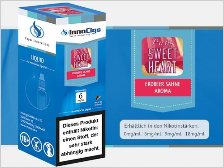 e-Liquid Pretty Sweetheart Sahne Erdbeer